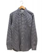 Black Fleece(ブラック フリース)の古着「ギンガムチェックシャツ」|グレー
