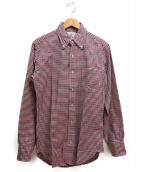 Black Fleece(ブラックフリース)の古着「ギンガムチェックシャツ」|レッド