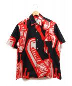 Martin Margiela 10(マルタンマルジェラ 10)の古着「Margiela telephone print shirt」|レッド×ブラック