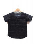 DESCENTE ALLTERRAIN(デサント オルテライン)の古着「リバーシブル半袖ダウンジャケット」|ブラック