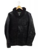 ORGUEIL(オルゲイユ)の古着「ホースレザージャケット」|ブラック