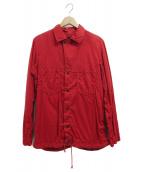 BRU NA BOINNE(ブルーナボイン)の古着「シャツジャケット」|レッド