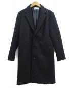 LIDnM(リドム)の古着「ウールチェスターコート」|ネイビー