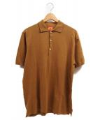 ANDERSEN-ANDERSEN(アンデルセン アンデルセン)の古着「ニットポロシャツ」|ベージュ