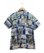 THE REAL McCOYS(リアルマッコイズ)の古着「グラフィックシャツ」|ブルー