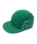 Supreme(シュプリーム)の古着「ダイアゴナルロゴサイドパネルキャンプキャップ」 グリーン