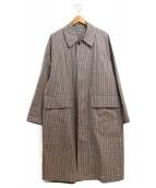 AURALEE(オーラリー)の古着「ステンカラーコート」|ブラウン×ベージュ