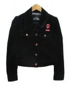 MARC JACOBS(マークジェイコブス)の古着「ベロアジャケット」|ブラック