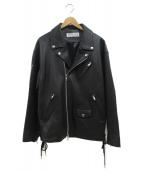 LEGENDA(レジェンダ)の古着「ダブルライダースジャケット」|ブラック
