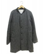 THE NERDYS(ザナーディーズ)の古着「ウールストライプコート」|グレー