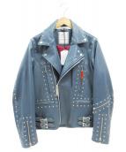 Maison MIHARA YASUHIRO(メゾンミハラヤスヒロ)の古着「Studded Jacket」|ブルー