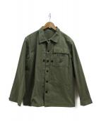 Buzz Ricksons(バズリクソンズ)の古着「ヘリンボーンUSMCジャケット」 グリーン