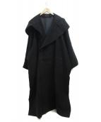 YOHJI YAMAMOTO(ヨウジヤマモト)の古着「BLACK BIG HOOD COAT」|ブラック