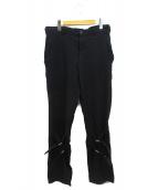 BLACK COMME des GARCONS(ブラックコムデギャルソン)の古着「膝ベルトパンツ」 ブラック