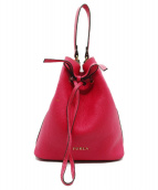 FURLA(フルラ)の古着「巾着ショルダーバッグ」 ピンク
