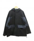 .efiLevol(エフィレボル)の古着「メルトンマウンテンブルゾン」|ブラック