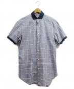 BRIONI(ブリオーニ)の古着「チェックシャツ」 パープル