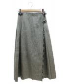 ONEIL OF DUBLIN × BEAUTY&YOUTH(オニールオブダブリン × ビューティアンドユース)の古着「別注ロングキルトスカート」|グレー
