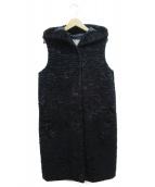 S Max Mara(エス マックスマーラ)の古着「ノースリーブフーデッドコート」|ブラック