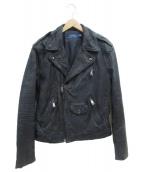()の古着「ライダースジャケット」|ネイビー