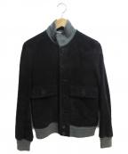 ETONNE(エトネ)の古着「ゴートスウェードジャケット」|ネイビー