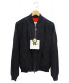 Valstar(バルスター)の古着「ゴートスキンMA-1ジャケット」|ネイビー