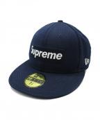 SUPREME×NEWERA(シュプリーム×ニューエラ)の古着「MESH BOX LOGO NEW ERA CAP」|ネイビー