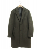JOURNAL STANDARD(ジャーナルスタンダード)の古着「ロングチェスターコート」|カーキ