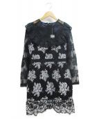 EmiriaWiz(エミリアウィズ)の古着「ロングスリーブレースタイトワンピース」|ブラック
