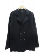 CRUCIANI(クルチアーニ)の古着「ニットジャケット」 ネイビー