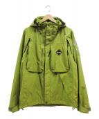 NIKE×FCRB(ナイキ×エフシーアールビ)の古着「フーデッドジャケット」|イエロー