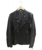 Paul Smith JEANS(ポールスミスジーンズ)の古着「ダブルライダースジャケット」|ブラック