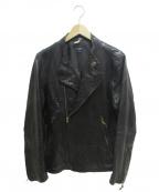 Paul Smith JEANS(ポールスミス ジーンズ)の古着「ダブルライダースジャケット」|ブラック