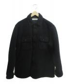 COOTIE PRODUCTIONS(クーティー プロダクツ)の古着「ボアCPOジャケット」|ブラック