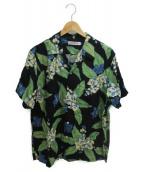 COOTIE PRODUCTIONS(クーティー プロダクツ)の古着「アロハシャツ」|ブラック×グリーン