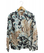 CALEE(キャリ)の古着「オープンカラーシャツ」|ブラック×ブルー