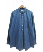 unfil(アンフィル)の古着「タンガリーボタンダウンシャツ」|ブルー