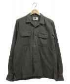 Engineered Garments(エンジニアードガーメン)の古着「総柄シャツ」 グレー