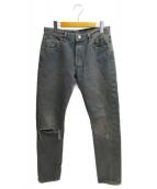 LEVIS VINTAGE CLOTHING(リーバイス ヴィンテージ クロージング)の古着「スリムデニムパンツ」|ブラック