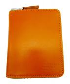 MARGARET HOWELL idea(マーガレットハウエルアイデア)の古着「ベジタンレザーラウンドファスナーウォレット」|オレンジ