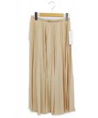 TOMORROW LAND(トゥモローランド)の古着「プリーツスカート」|アイボリー
