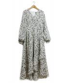 EmiriaWiz(エミリアウィズ)の古着「ダルメシアン柄ワンピース」|アイボリー×ブラック