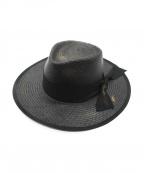 GLAD HAND(グラッドハンド)の古着「Luv Letter Panama Hat」 ブラック