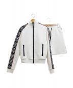 MIU MIU(ミュウミュウ)の古着「コットンフリースジャケット&コットンスカート」|ホワイト