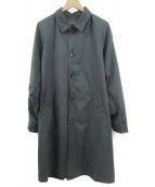 nano・universe(ナノユニバース)の古着「ステンカラーコート」|ブラック
