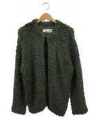 TODAYFUL(トゥデイフル)の古着「Boucle Knit Cardigan」|オリーブ