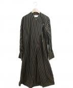 TODAYFUL(トゥデイフル)の古着「Asymmetry Stripe Dress」 ブラウン