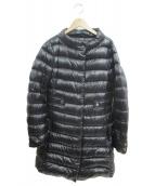 HERNO(ヘルノ)の古着「スタンドカラーロングダウンコート」|ブラック