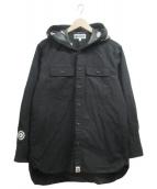 A BATHING APE(アベイシングエイプ)の古着「フードシャークシャツ」|ブラック