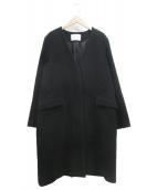UNITED ARROWS TOKYO(ユナイティッドアローズトウキョウ)の古着「UWSC Vノーカラーコート」|ブラック